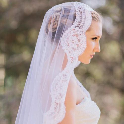 Bí quyết làm đẹp cùng khăn voan cô dâu cho nàng tóc ngắn