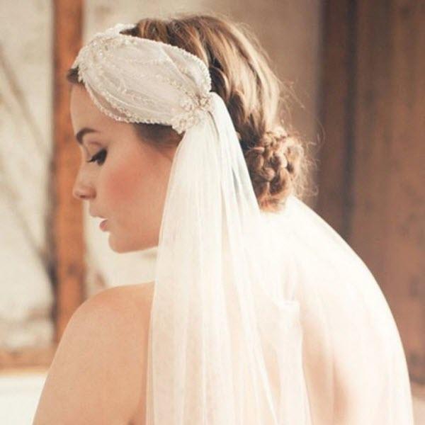 Bí quyết che khuyết điểm với khăn voan cô dâu