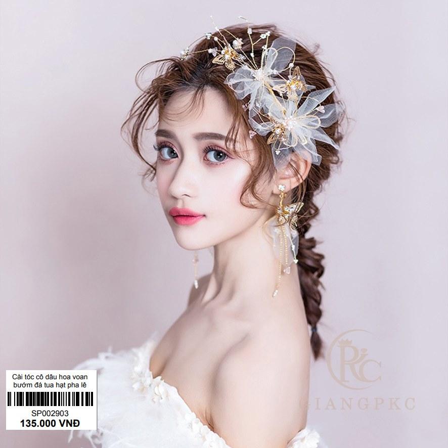 cài tóc cô dâu xinh