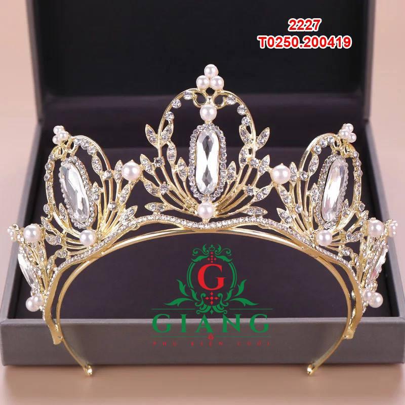 vương miện cô dâu mầu vàng