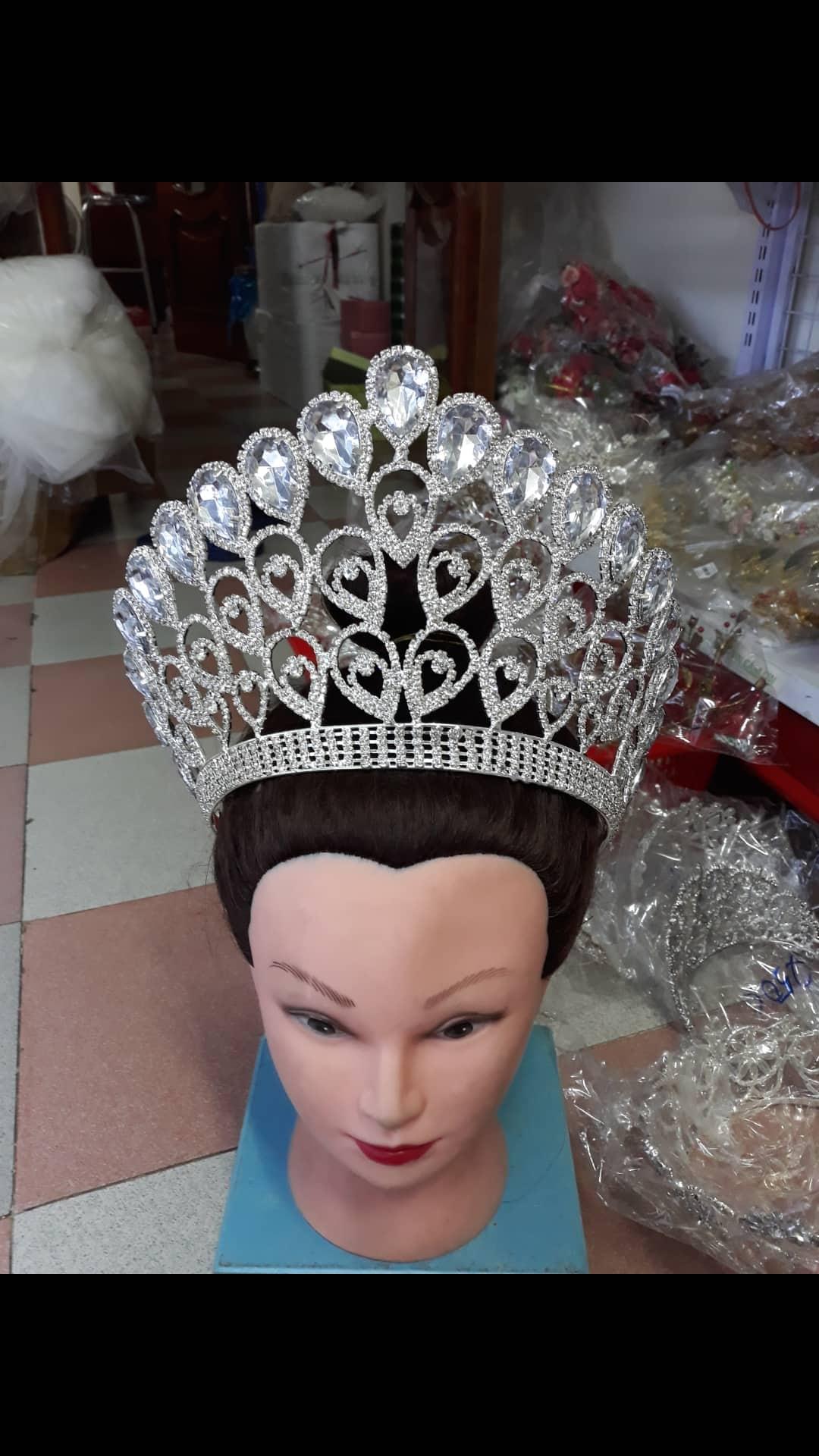 vương miện cô dâu , hoa hậu , hoa khổi dáng cao , hàng cao cấp